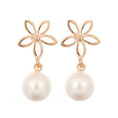 preiswerte Ohrringe-Damen Anhängerketten - Perle, Künstliche Perle, vergoldet Blume Modisch Gold Für Hochzeit / Party / Alltag