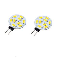 preiswerte LED-Birnen-2pcs 3W 300-350lm G4 LED Doppel-Pin Leuchten T 9 LED-Perlen SMD 5730 Dekorativ Warmes Weiß Kühles Weiß 9-30V 24V 12V