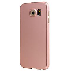 voordelige Galaxy S6 Edge Hoesjes / covers-Voor Samsung Galaxy S7 Edge Other hoesje Volledige behuizing hoesje Effen kleur Hard PC Samsung S7 edge / S7 / S6 edge / S6