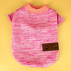 Koty / Psy T-shirt Zielony / Niebieski / Black / Różowy / Szary / Beżowy Ubrania dla psów Wiosna/jesień Jendolity kolor Codzienne