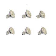 GU10 Żarówki punktowe LED Do zabudowy 60 SMD 3528 300LM lm Ciepła biel Zimna biel 3000-3200/6000-6500 K Dekoracyjna AC 220-240 DC 12 V