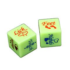 주사위 장난감 로맨스 스푸핑 재미 2 조각