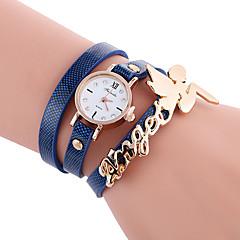 Damen Modeuhr Armband-Uhr Armbanduhren für den Alltag Quartz / PU Band Bequem Cool Schwarz Weiß Blau Rot Orange Braun Grün GelbBraun Rot
