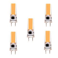 cheap LED Bulbs-YWXLIGHT® 5pcs 5W 350-450 lm G8 LED Bi-pin Lights T 1 leds COB Dimmable Decorative Warm White Cold White AC 110-130V AC 220-240V