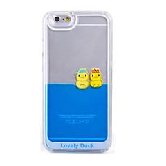 Недорогие Кейсы для iPhone 5-Кейс для Назначение iPhone 5 Apple Кейс для iPhone 5 Движущаяся жидкость Прозрачный Кейс на заднюю панель Мультипликация Твердый ПК для