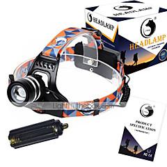 preiswerte Stirnlampen-1000 lm Stirnlampen / Fahrradlicht LED 3 Modus - U'King ZQ G7000 - Zoomable- / einstellbarer Fokus / Wiederaufladbar