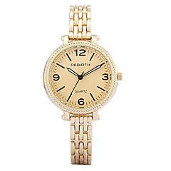お買い得  大特価腕時計-REBIRTH 女性用 クォーツ リストウォッチ ブレスレットウォッチ / ホット販売 合金 バンド カジュアル Elegant ファッション シルバー ゴールド