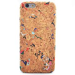 Недорогие Кейсы для iPhone 6-Кейс для Назначение Apple iPhone 8 iPhone 8 Plus iPhone 6 iPhone 6 Plus С узором Кейс на заднюю панель Имитация дерева Мягкий Кожа PU для