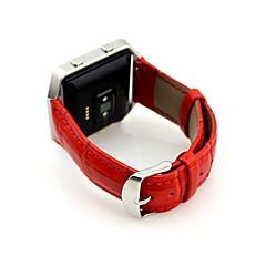 Красный / Черный / Синий / Коричневый Кожа / Металл durable Спортивный ремешок Для Fitbit Смотреть 23мм