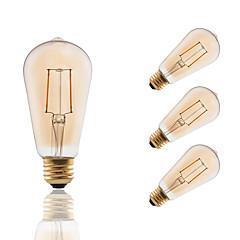 preiswerte LED-Birnen-GMY® 4pcs 180lm E26 / E27 LED Glühlampen ST19 2 LED-Perlen COB Abblendbar Dekorativ Bernstein 110-130V