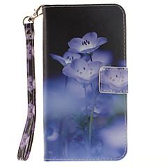 Недорогие Чехлы и кейсы для Galaxy Note 5-Кейс для Назначение SSamsung Galaxy Samsung Galaxy Note7 Бумажник для карт Кошелек Флип С узором Чехол Цветы Твердый Кожа PU для Note 7