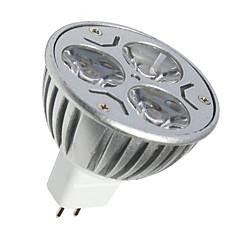 3W GU5.3(MR16) LED-spotlys MR16 3 SMD 250LM lm Varm hvid Kold hvid Dekorativ Jævnstrøm 12 V 1 stk.