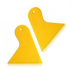 abordables Herramientas de Limpieza-ziqiao 2pcs / triángulo conjunto rascador de plástico película rasqueta automática de la ventana de vinilo instalar herramientas raspador