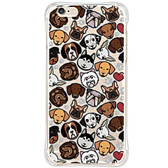 Dog TPU Back Antishock/Dust-free /Waterproof/Crystal Soft Shell For i6s Plus/6 Plus/6s/6/SE/5S/5