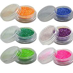 6 Nail Art dekoráció strasszos gyöngy smink Kozmetika Nail Art Design