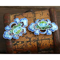 DIY 보석 푸른 꽃 스타일의 구리 매력