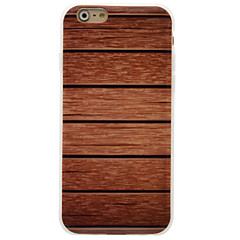 Para iPhone 6 iPhone 6 Plus Carcasa Funda IMD Cubierta Trasera Funda Fibra de Madera Suave TPU para Apple iPhone 6s Plus iPhone 6 Plus