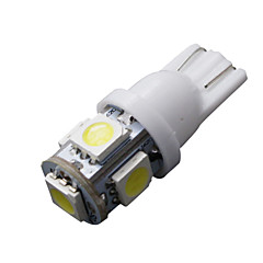 10 buc T10 alb 168 194 501 W5W 5 LED-uri SMD ataș pană lampa bec 12V DC