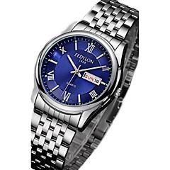 お買い得  大特価腕時計-カップル用 リストウォッチ 30 m カジュアルウォッチ ステンレス バンド ハンズ カジュアル ファッション シルバー - ブラック シルバー ブルー 1年間 電池寿命 / Tianqiu 377