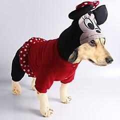 お買い得  犬用ウェア&アクセサリー-犬 コスチューム コート ジャンプスーツ 犬用ウェア カートゥン ブラック レッド コットン コスチューム ペット用 男性用 女性用 キュート カジュアル/普段着 コスプレ ファッション ハロウィーン