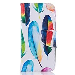 Недорогие Кейсы для iPhone 7 Plus-На все тело Визитница / бумажник / с подставкой Перья Искусственная кожа жесткий Для крышки случая Apple iPhone 7 / iPhone 7 Plus