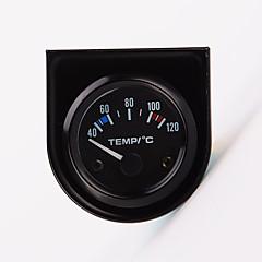 """preiswerte Autozubehör-2 """"52mm 12v Universal-Auto Zeiger Wassertemperatur Temperaturanzeige 40-120 weiße LED"""