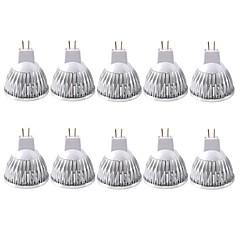 preiswerte LED-Birnen-ZDM® 10 Stück 3 W 250-300 lm MR16 LED Spot Lampen 1 LED-Perlen COB Dekorativ Warmes Weiß / Kühles Weiß 12 V / RoHs