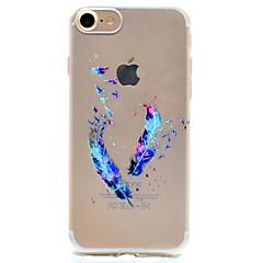 Для Кейс для iPhone 7 / Кейс для iPhone 6 / Кейс для iPhone 5 С узором Кейс для Задняя крышка Кейс для Перо Мягкий TPU AppleiPhone 7 Plus