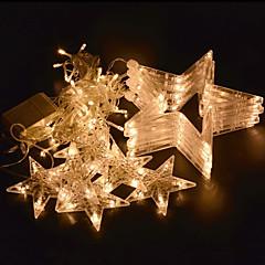 preiswerte LED Lichtstreifen-COSMOSLIGHT 2,5 m Leuchtgirlanden 138 LEDs Warmes Weiß Blau Wasserfest Farbwechsel 220V
