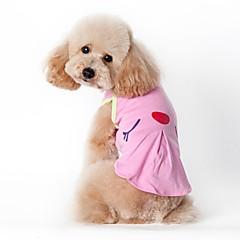 billige Hundetøj og tilbehør-Kat Hund Kostume T-shirt Vest Hundetøj Afslappet/Hverdag Cosplay Ferie Mode Sport Amerikansk / USA Grøn Lys pink Kostume For kæledyr