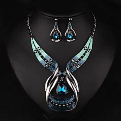 abordables Juegos de Joyería-Mujer Conjunto de joyas - Gota Lujo, Europeo, Moda Incluir Collar / pendientes Oro / Azul Para Fiesta / Diario / Casual / Pendientes / Collare