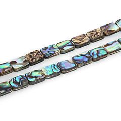 beadia 8x10mm téglalap természetes abalone tengeri kagyló gyöngyök (38cm / kb 38pcs)