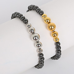 voordelige Armbanden-Heren Dames Strand Armbanden Modieus Acryl Juweeltje Ronde vorm Goud Zilver Sieraden Voor Dagelijks Causaal Sport 1 stuks