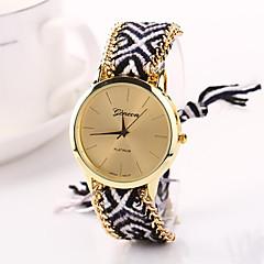 preiswerte Tolle Angebote auf Uhren-Damen Quartz Armbanduhr geflochtenen Seil Stoff Band Böhmische Modisch Mehrfarbig