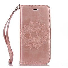tanie Etui do iPhone 6 Plus-Kılıf Na Apple iPhone X iPhone 8 iPhone 8 Plus Etui iPhone 5 iPhone 6 iPhone 7 Etui na karty Portfel Z podpórką Wytłaczany wzór Pełne etui