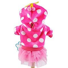 お買い得  犬用ウェア&アクセサリー-ネコ 犬 パーカー ドレス 犬用ウェア 水玉 ローズ ブルー ピンク コーデュロイ コスチューム ペット用 女性用 キュート ファッション