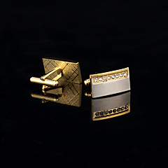 levne manžetové knoflíčky-Zlatá Kol Düğmeleri Měď / Štras Dárkové krabice a tašky / Módní Pánské Kostýmní šperky Pro Svatební / Párty / Denní