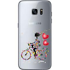 olcso Galaxy S6 tokok-Mert Samsung Galaxy S7 Edge Átlátszó / Other Case Hátlap Case Szív Puha TPU Samsung S7 edge / S7 / S6 edge plus / S6 edge / S6