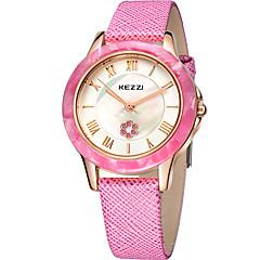 preiswerte Tolle Angebote auf Uhren-KEZZI Damen Armbanduhr Quartz Schlussverkauf Cool / Leder Band Analog Freizeit Modisch Schwarz / Weiß / Rosa - Purpur Rose Rosa