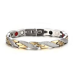 tanie Biżuteria damska-Męskie Bransoletki i łańcuszki na rękę Spersonalizowane Modny Stal nierdzewna Posrebrzany Pozłacane Křížky Circle Shape Biżuteria Impreza