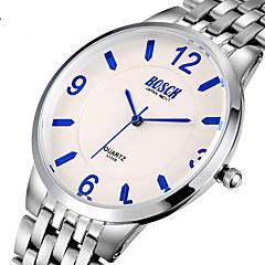BOSCK Heren Dress horloge Kwarts Waterbestendig Roestvrij staal Band Informeel Zilver