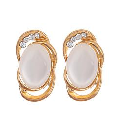 preiswerte Ohrringe-Damen Opal - vergoldet, Opal Modisch Gold Für Hochzeit / Party