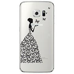 tanie Galaxy S6 Edge Etui / Pokrowce-Na Samsung Galaxy S7 Edge Przezroczyste / Wzór Kılıf Etui na tył Kılıf Seksowna dziewczyna Miękkie TPU SamsungS7 edge / S7 / S6 edge plus