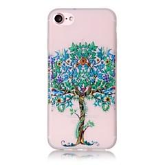 Недорогие Кейсы для iPhone 7-Кейс для Назначение Apple iPhone 6 iPhone 7 Plus iPhone 7 Бумажник для карт Сияние в темноте С узором Чехол дерево Твердый ТПУ для iPhone