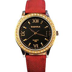 お買い得  大特価腕時計-YAZOLE 女性用 リストウォッチ クォーツ ホット販売 クール / PU バンド ハンズ カジュアル ファッション ブラック / ブルー / シルバー - イエロー レッド ブルー