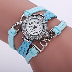 お買い得  レディース腕時計-女性用 ブレスレットウォッチ リストウォッチ クォーツ ブラック / 白 / ブルー 模造ダイヤモンド ハンズ レディース 光沢タイプ ヴィンテージ カジュアル ボヘミアンスタイル - レッド ブルー ピンク 1年間 電池寿命 / ステンレス