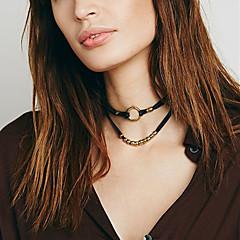 preiswerte Halsketten-Damen Halsketten  -  Simple Style, Doppelschicht, Modisch Silber, Golden Modische Halsketten Für Hochzeit, Party, Alltag