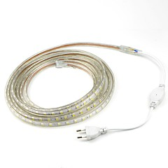 5M/1PCS 20W 220V 5050 LED Flexible Tape Rope Strip Light Xmas Outdoor Waterproof   Garden outdoor lightingEU Plug EU