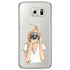 Varten Samsung Galaxy S7 Edge Ultraohut / Läpinäkyvä Etui Takakuori Etui Piirros Pehmeä TPU SamsungS7 edge / S7 / S6 edge plus / S6 edge
