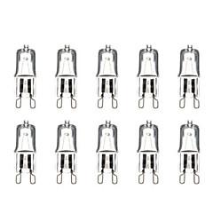 Недорогие Светодиодные электролампы-g9 40w 3000-3500k теплый белый галогеновый ламповый светильник шарика (220v, 10pcs)